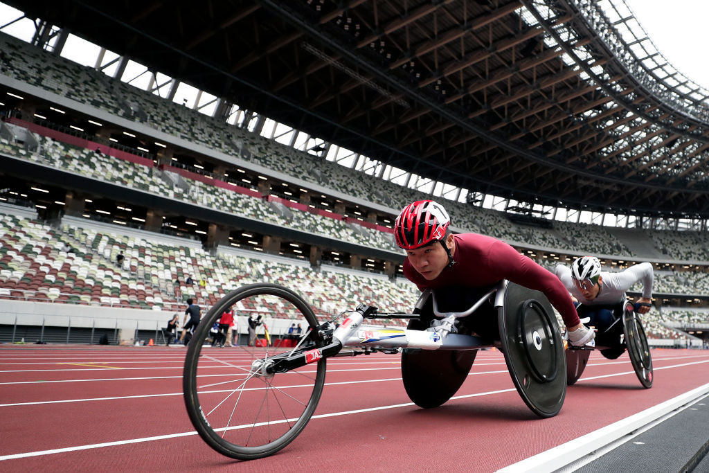 Asian and Japanese records fell in the Tokyo 2020 Para athletics test event in Tokyo's National Stadium ©Getty Images