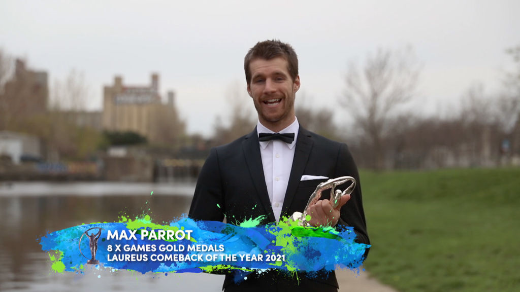 Canadian snowboarder Parrot wins Comeback of the Year at Laureus Sports Awards
