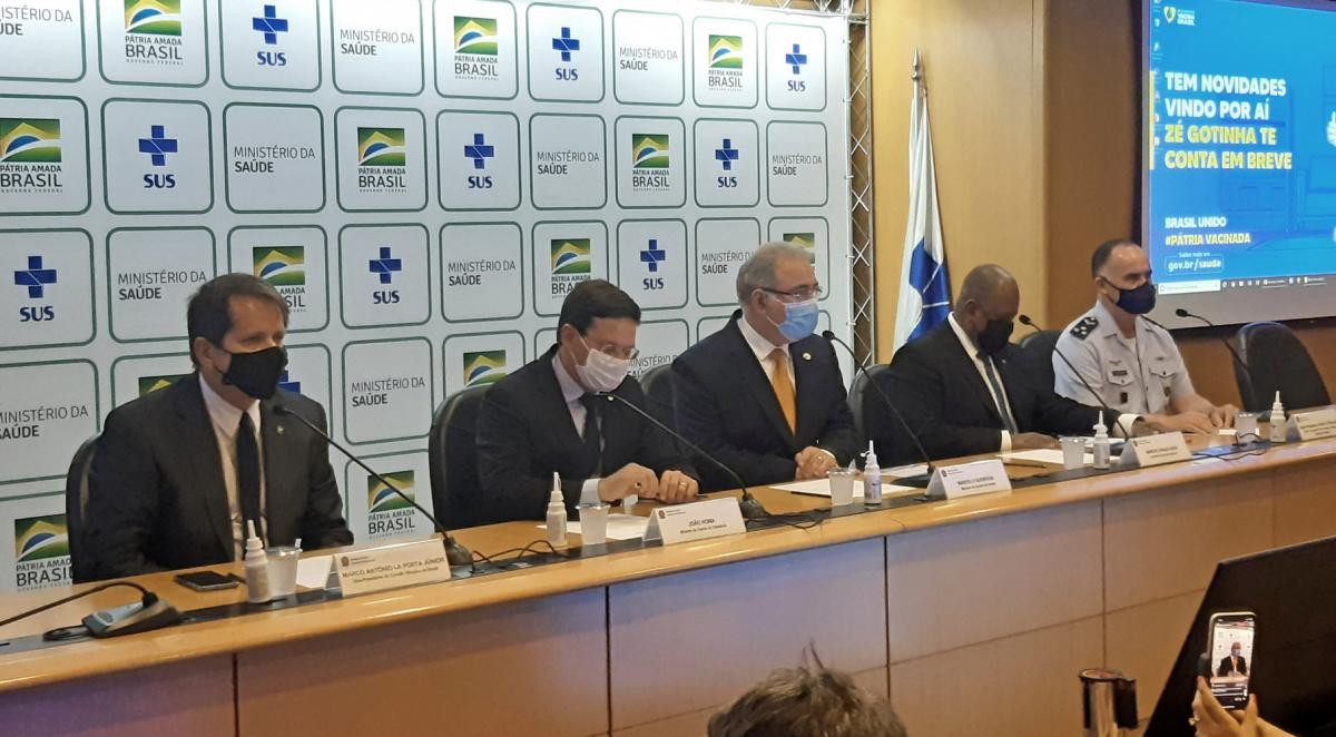 The Brazilian Olympic Committee announcement that the IOC's offer of supplying vaccines for Tokyo 2020-bound athletes and officials and additional citizens had been taken up took place in Brasilia ©COB