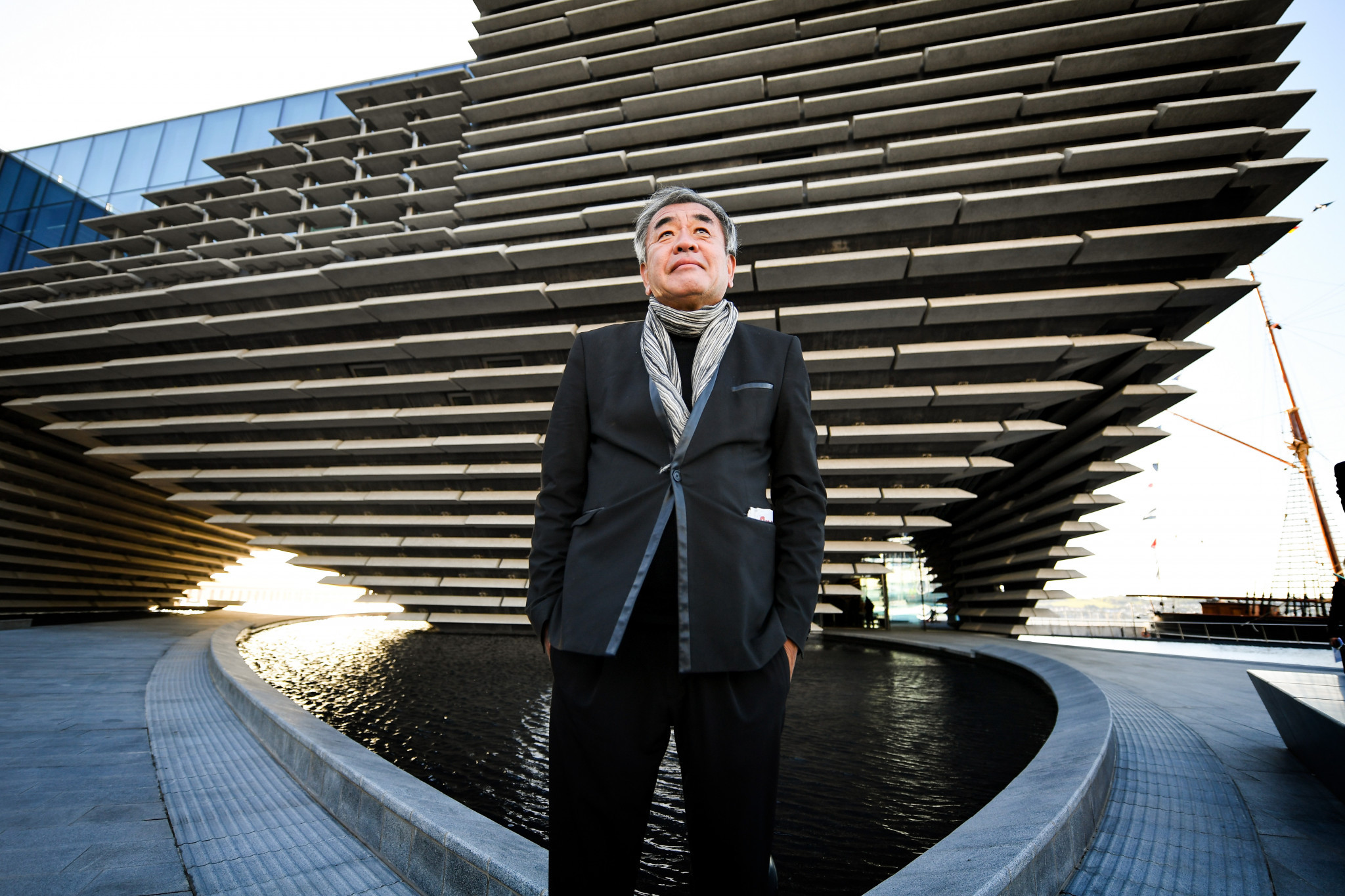 Architect Kengo Kuma at the V&A Dundee ©Getty Images