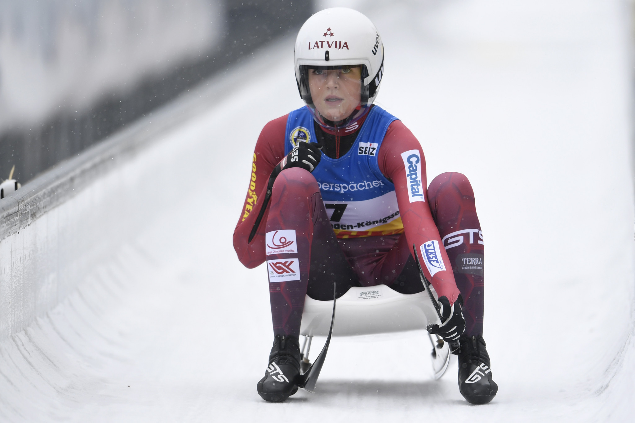 GTS is the equipment provider for Latvia's luge team ©FIL