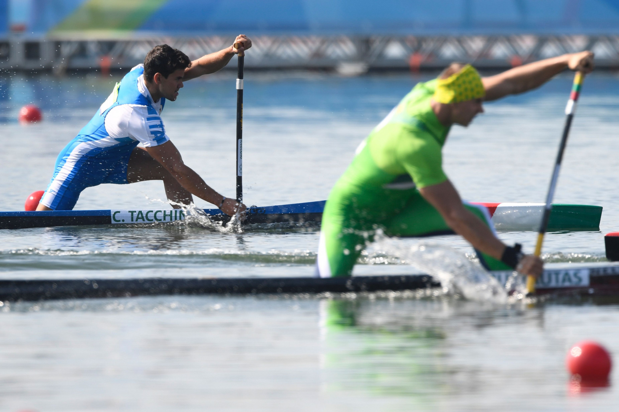 Italy's Carlo Tacchini was quickest in the men's C1 1,000m heats ©Getty Images