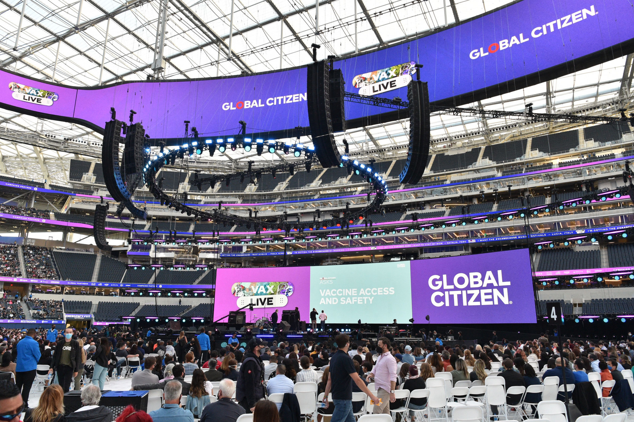 Key Los Angeles 2028 venue SoFi Stadium holds first event with fans in attendance