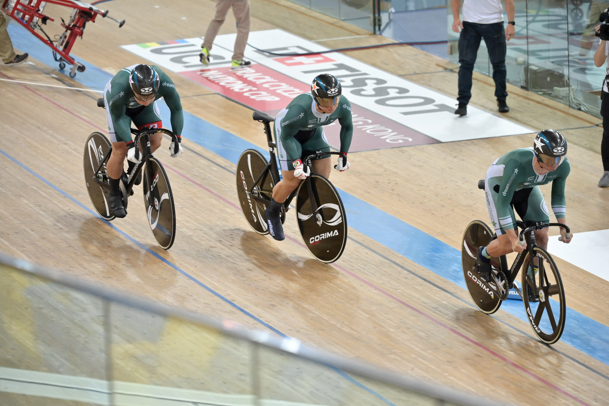 Japanese trio and Hong Kong win team sprints at UCI Track Cycling Nations Cup