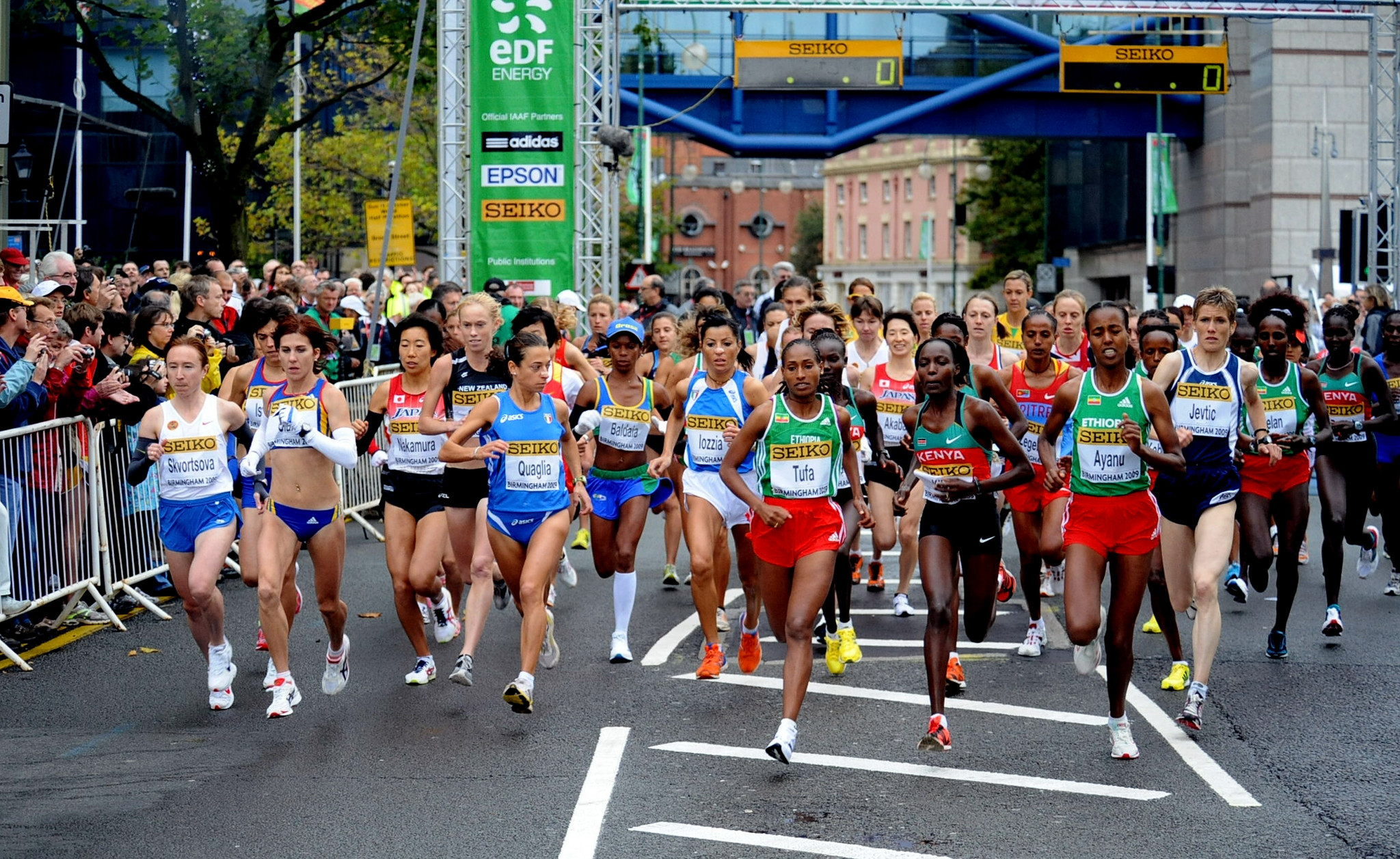 Birmingham hosted the World Half Marathon Championships, which is due to be absorbed into the new event, in 2009 ©Getty Images