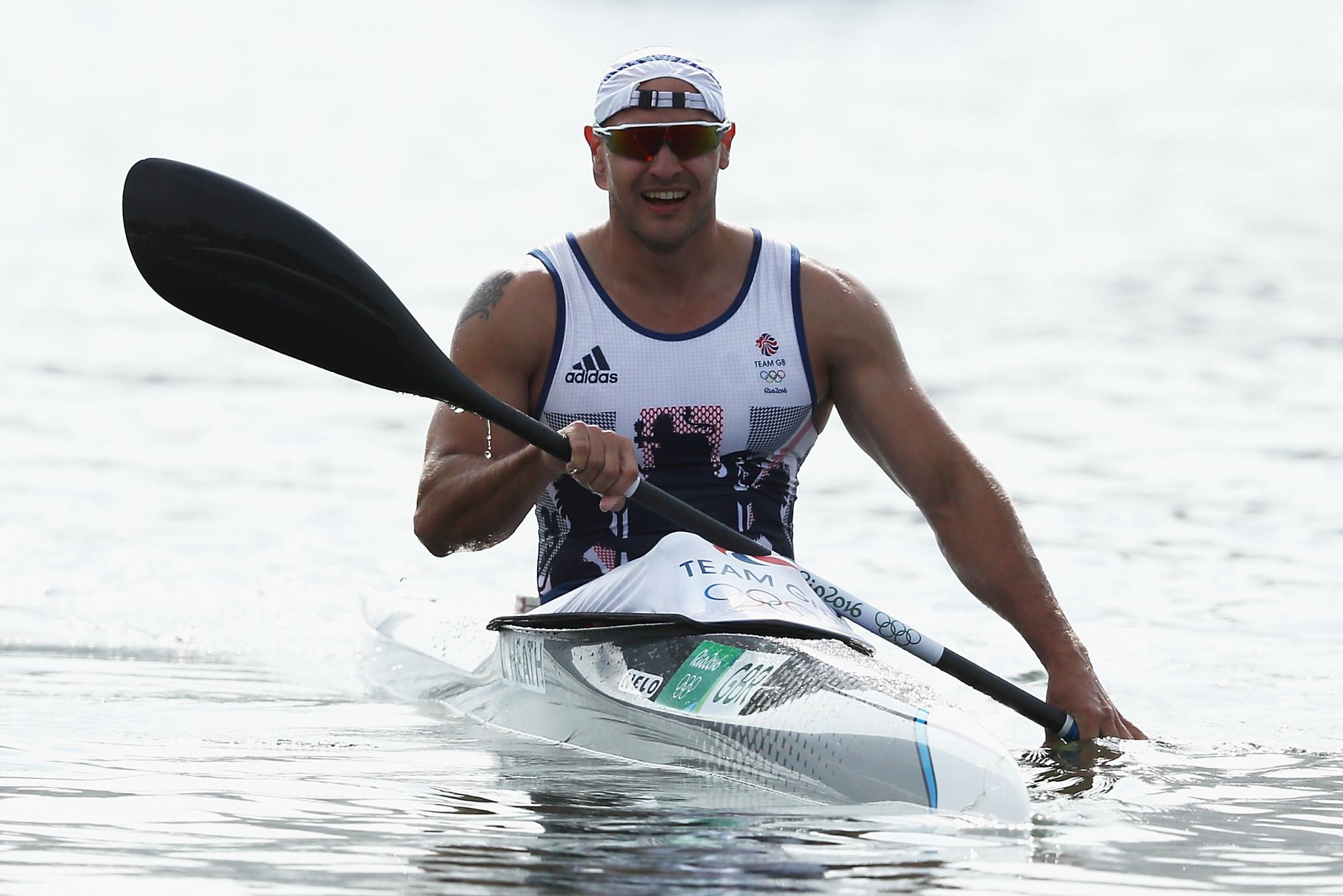 Liam Heath won the men's K1 200m today ©Getty Images