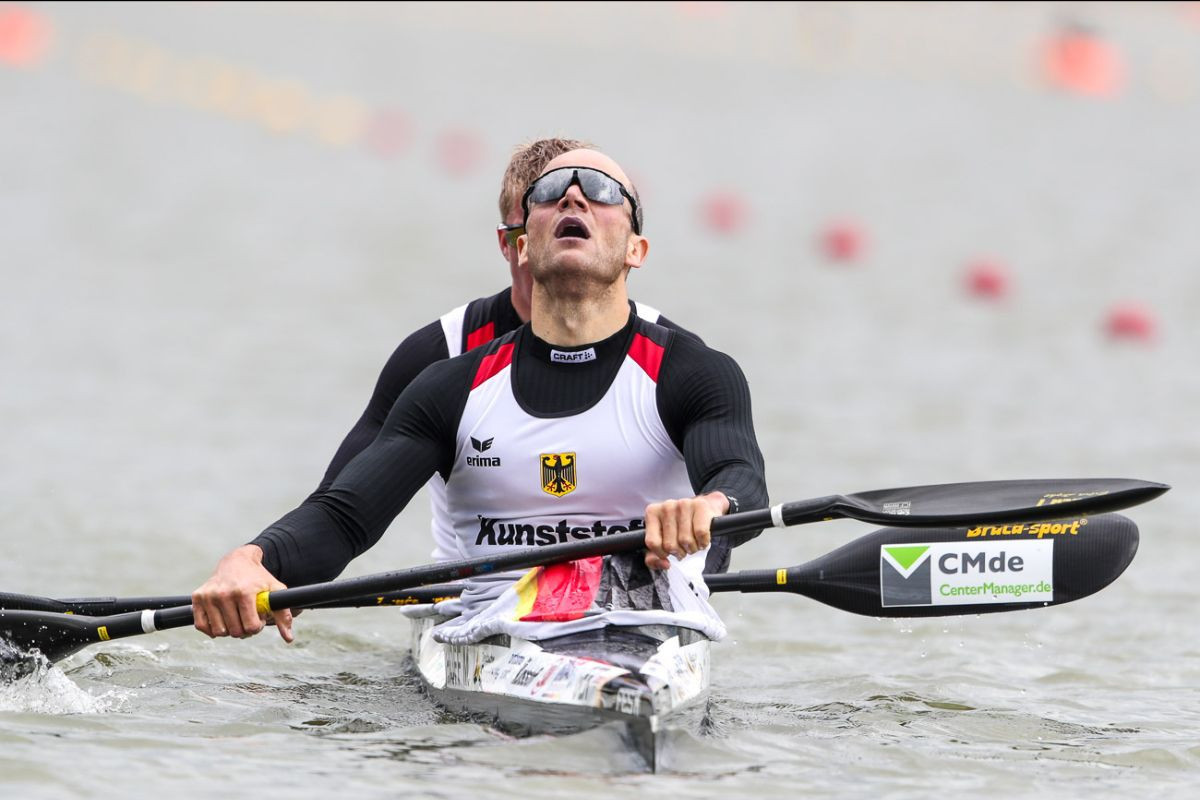 Veteran Max Hoff earned a fourth Olympic appearance after winning the K2 1,000m final at the Canoe Sprint World Cup in Szeged today, partnering Jacob Schopf ©ICF