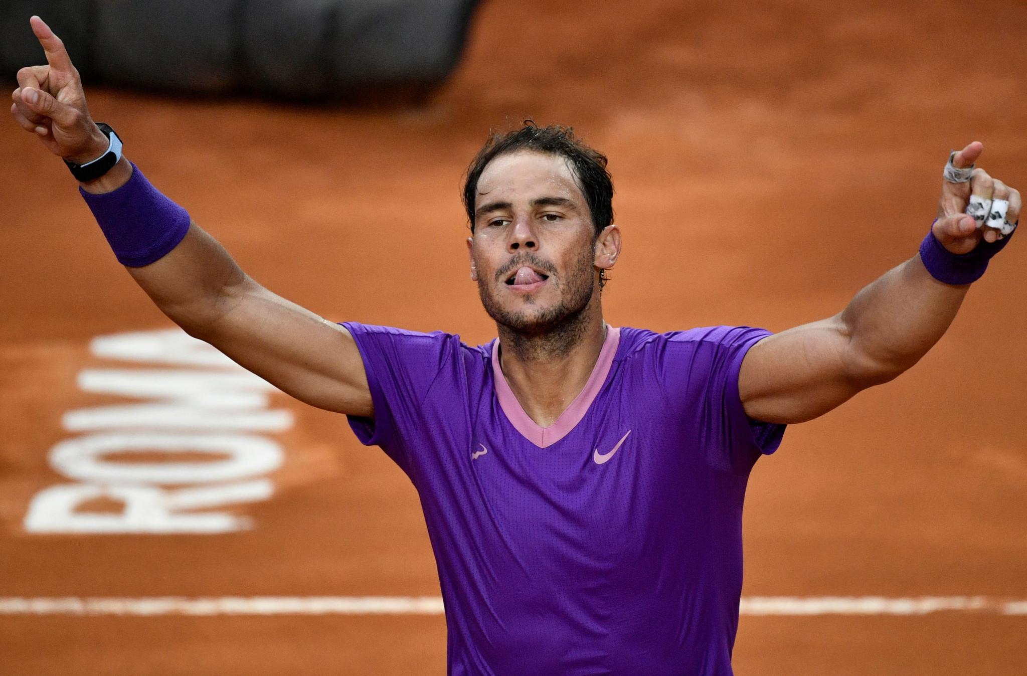 Nadal beats Djokovic for record-extending 10th Italian Open title and Świątek strolls women's final