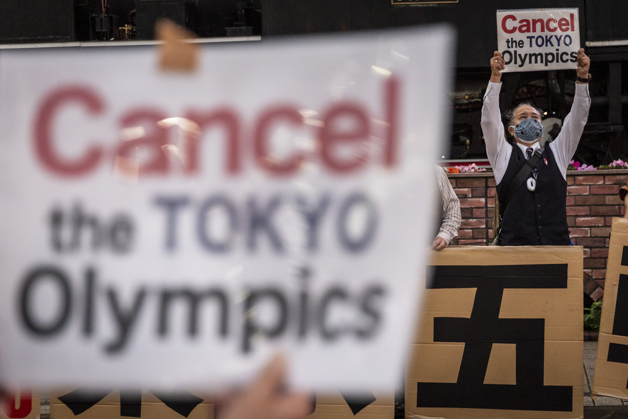 The majority of the Japanese public are against holding the Olympic Games in Tokyo under the current situation, several surveys have found ©Getty Images
