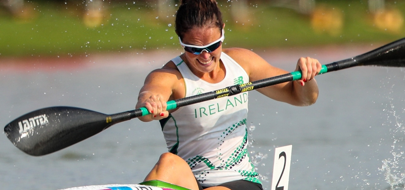 Ireland's Jenny Egan hopes for success at the Canoe Sprint Global Olympic qualifier in Barnaul after two narrow misses ©ICF