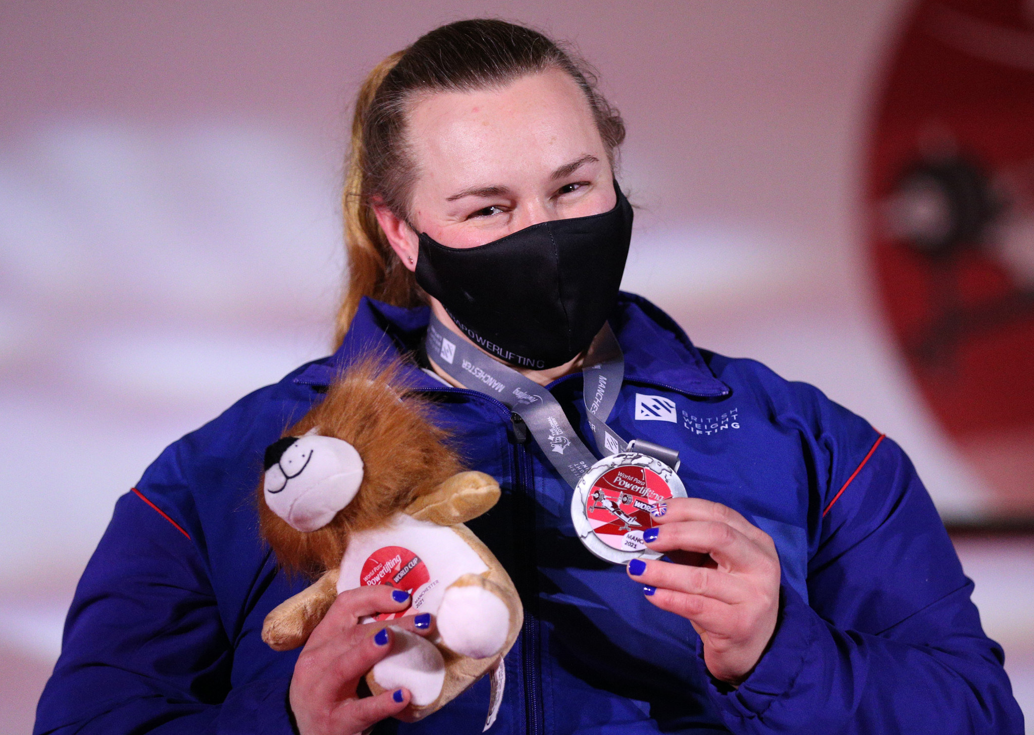 Louise Sugden won silver at the Manchester leg of the World Para Powerlifting World Cup ©Getty Images