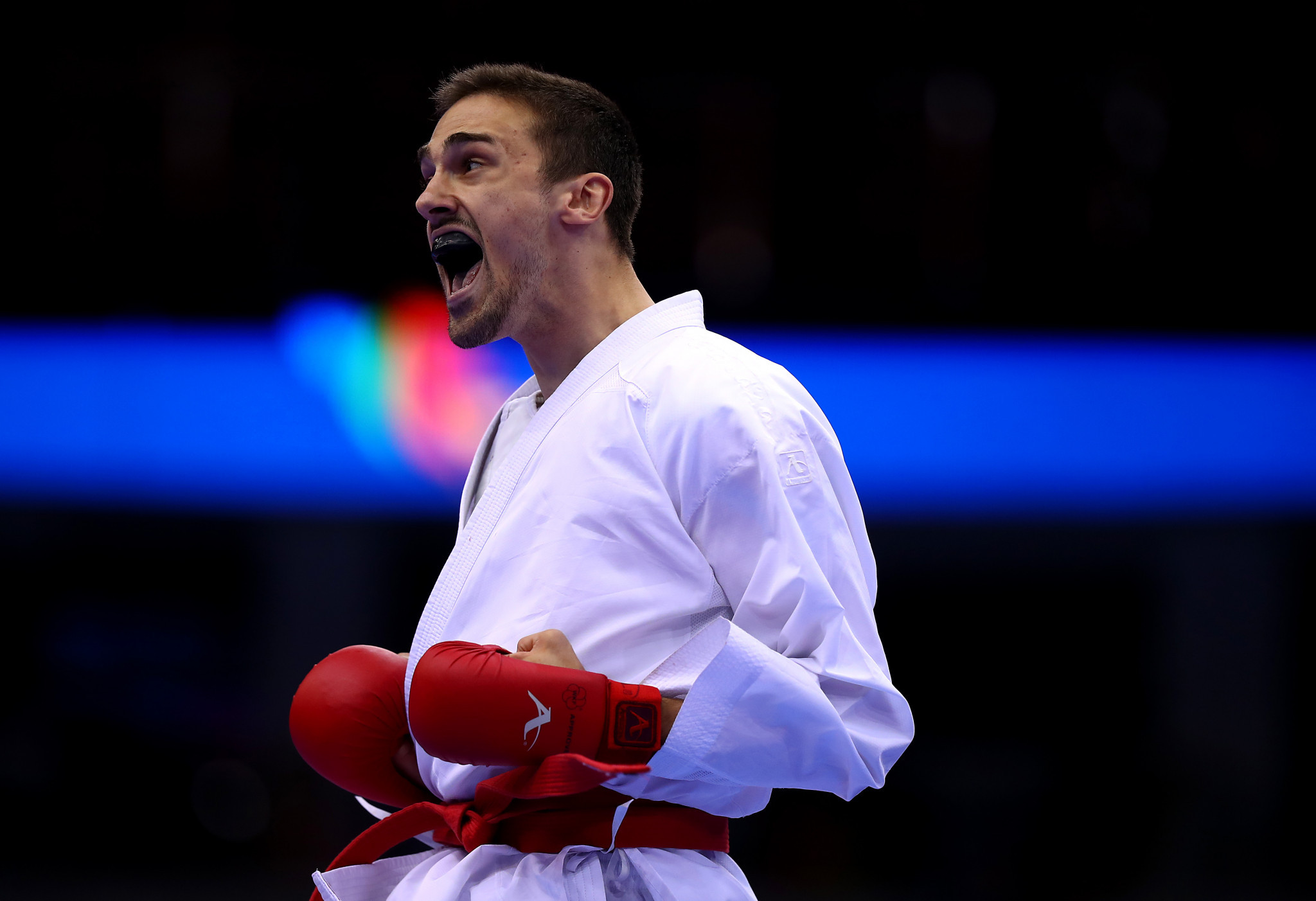 Ivan Kvesic is part of the Croatia team that reached the men's team kumite final on day three of the European Karate Championships ©Getty Images