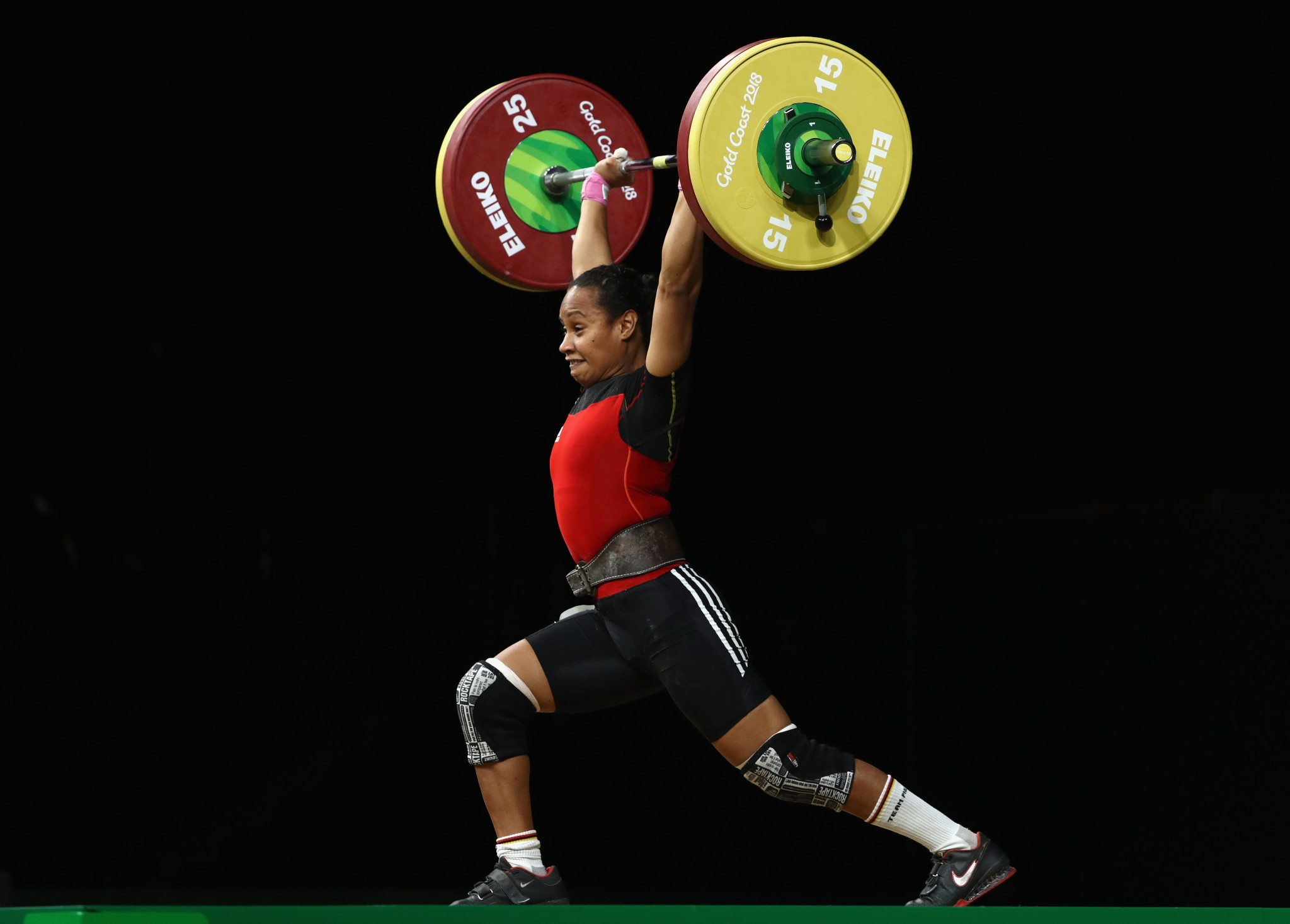Dika Toua is seeking to become the first female weightlifter to appear at five Olympics ©Getty Images