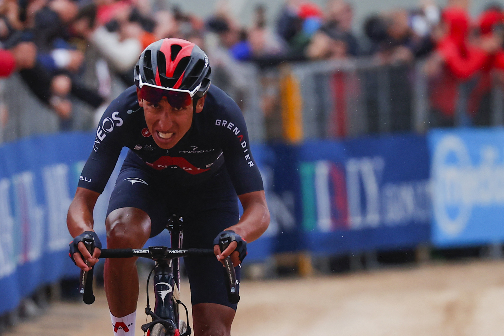 Colombia's Egan Bernal now leads the Giro d'Italia by one minute and 33 seconds after finishing on today's stage at the summit of Monte Zoncalon ©Getty Images