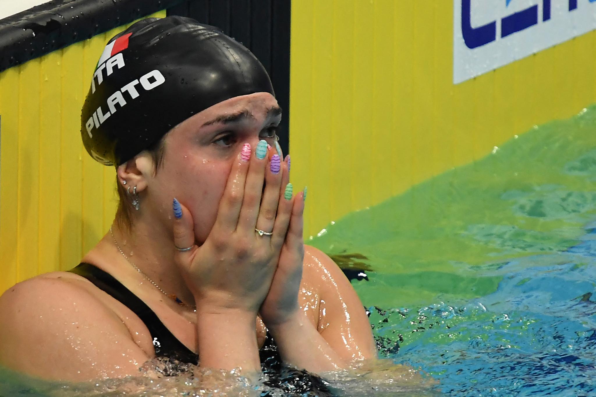 Pilato breaks 50m breaststroke world record at European Aquatics Championships