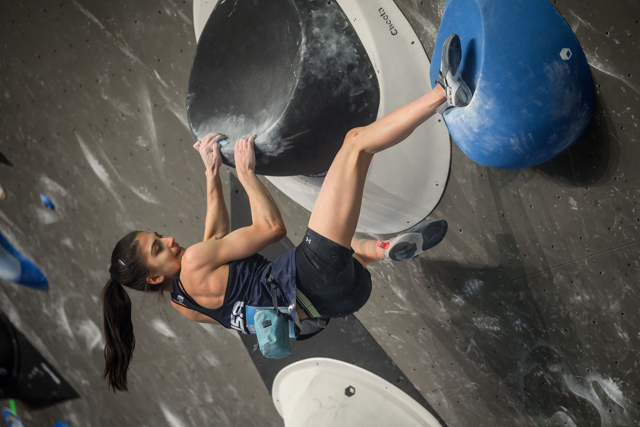 Teenager Grossman delights Salt Lake City crowd with first IFSC World Cup win