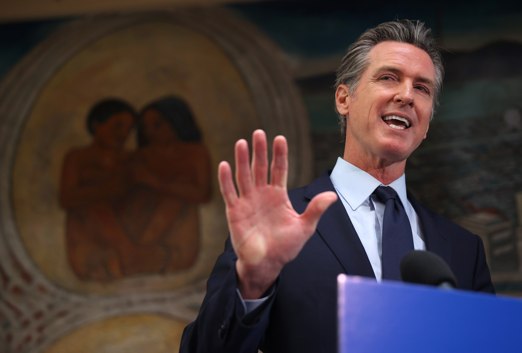 California Governor Gavin Newsom included the figure in his latest spending plan ©Getty Images