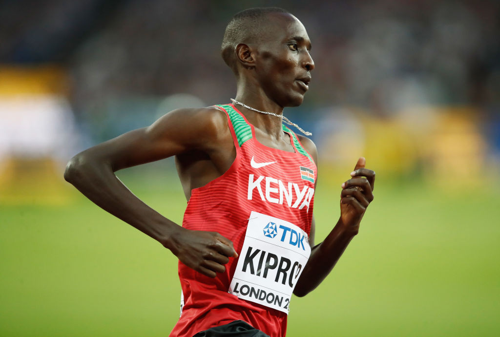 Banned Kenyan 1500m runner Asbel Kiprop says he will challenge a ruling by Athletics Kenya banning past doping offenders from representing their country ©Getty Images
