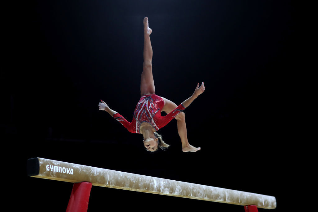 Croatia's Christina Zwicker will defend her position atop the FIG World Challenge Cup rankings on the balance beam in the competition starting in Varna tomorrow ©Getty Images