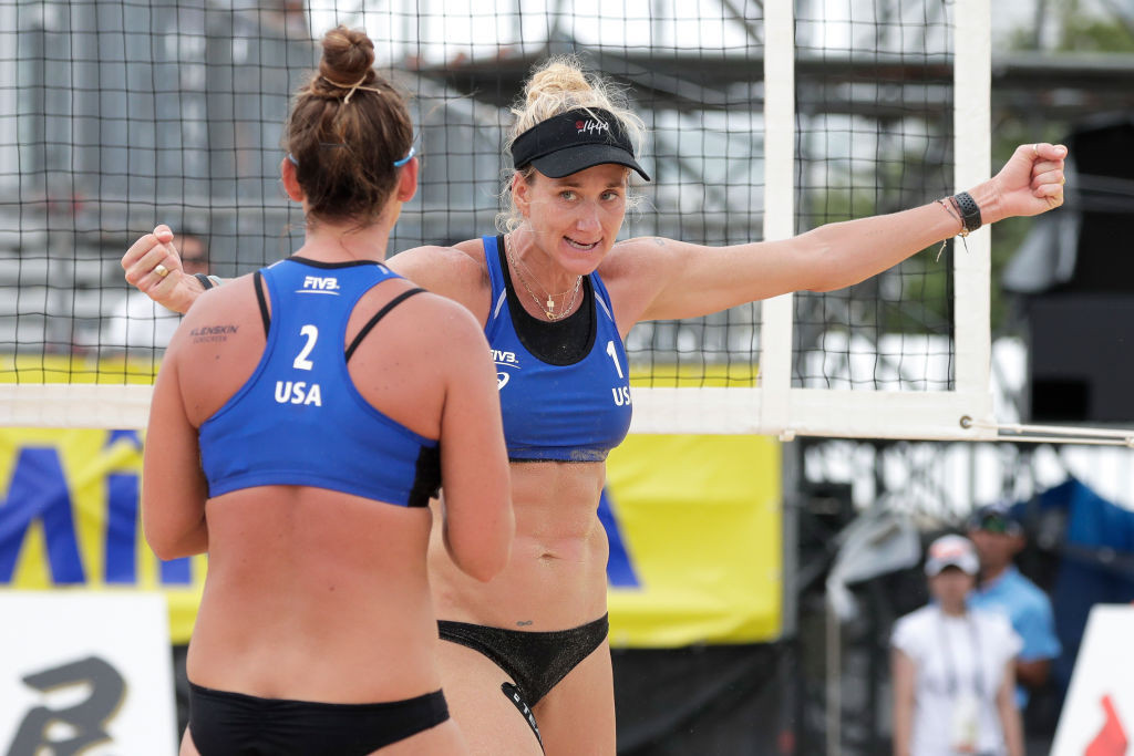 Kerri Walsh Jennings and Brooke Sweat have reached the main draw at the Sochi FIVB Beach Volleyball World Tour event ©Getty Images