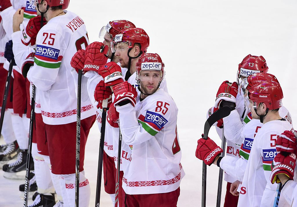 Belarus, playing under a new flag, lost 4-3 to Britain tonight at the IIHF World Championship in Riga ©Getty Images