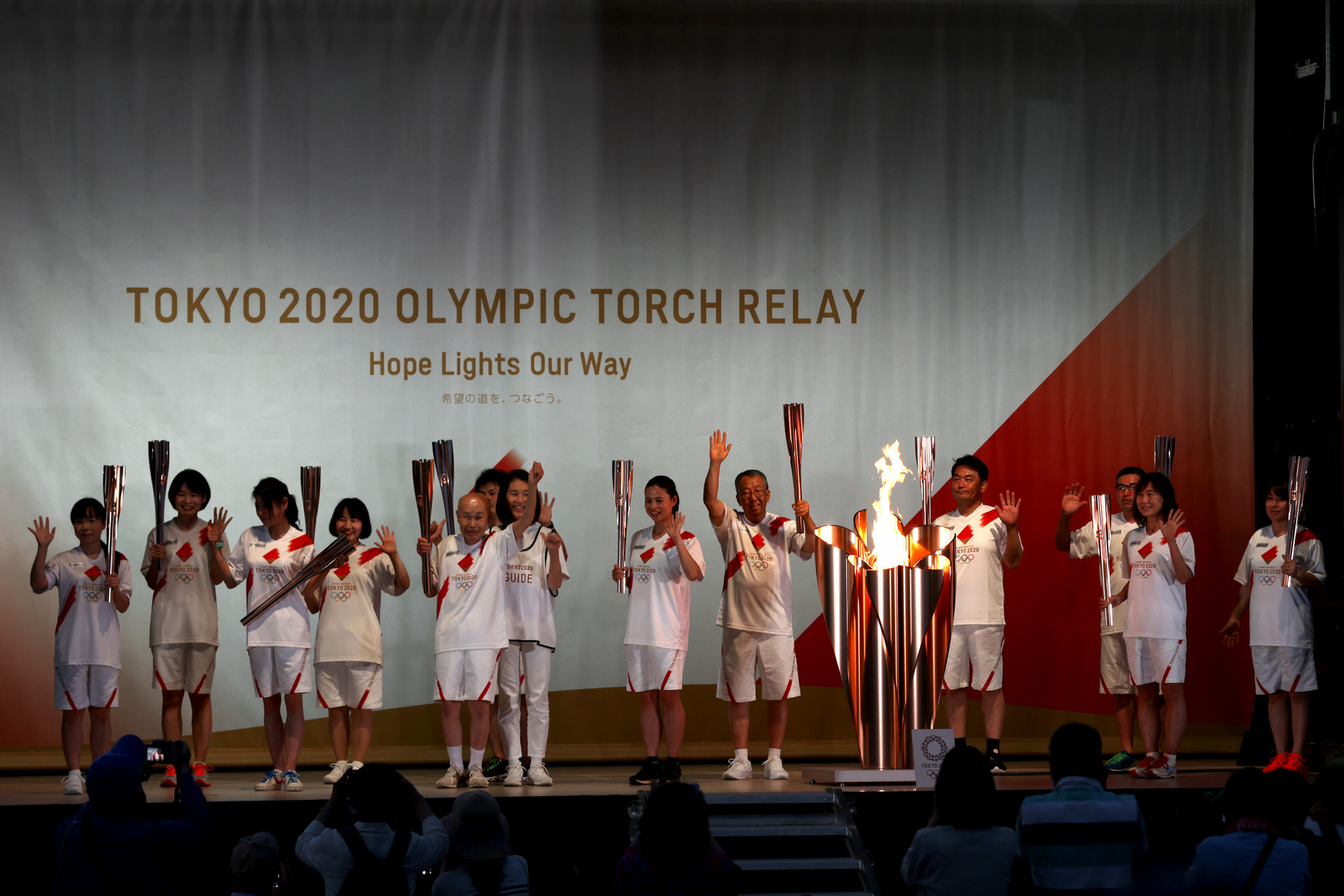 The Tokyo 2020 Olympic Torch looks set to be taken off road in Sapporo and Chiba ©Getty Images
