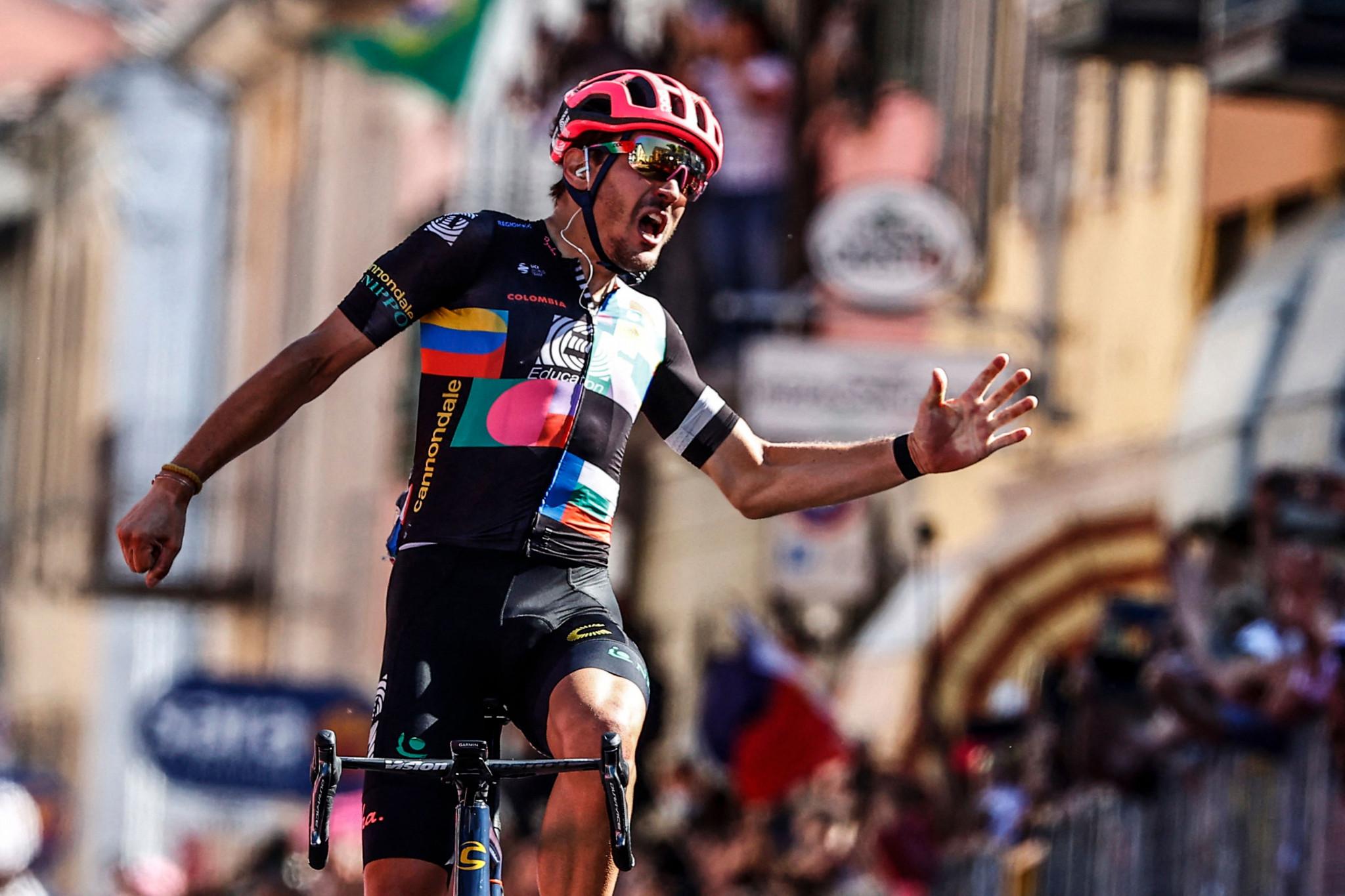Bettiol wins stage 18 of Giro d'Italia from breakaway