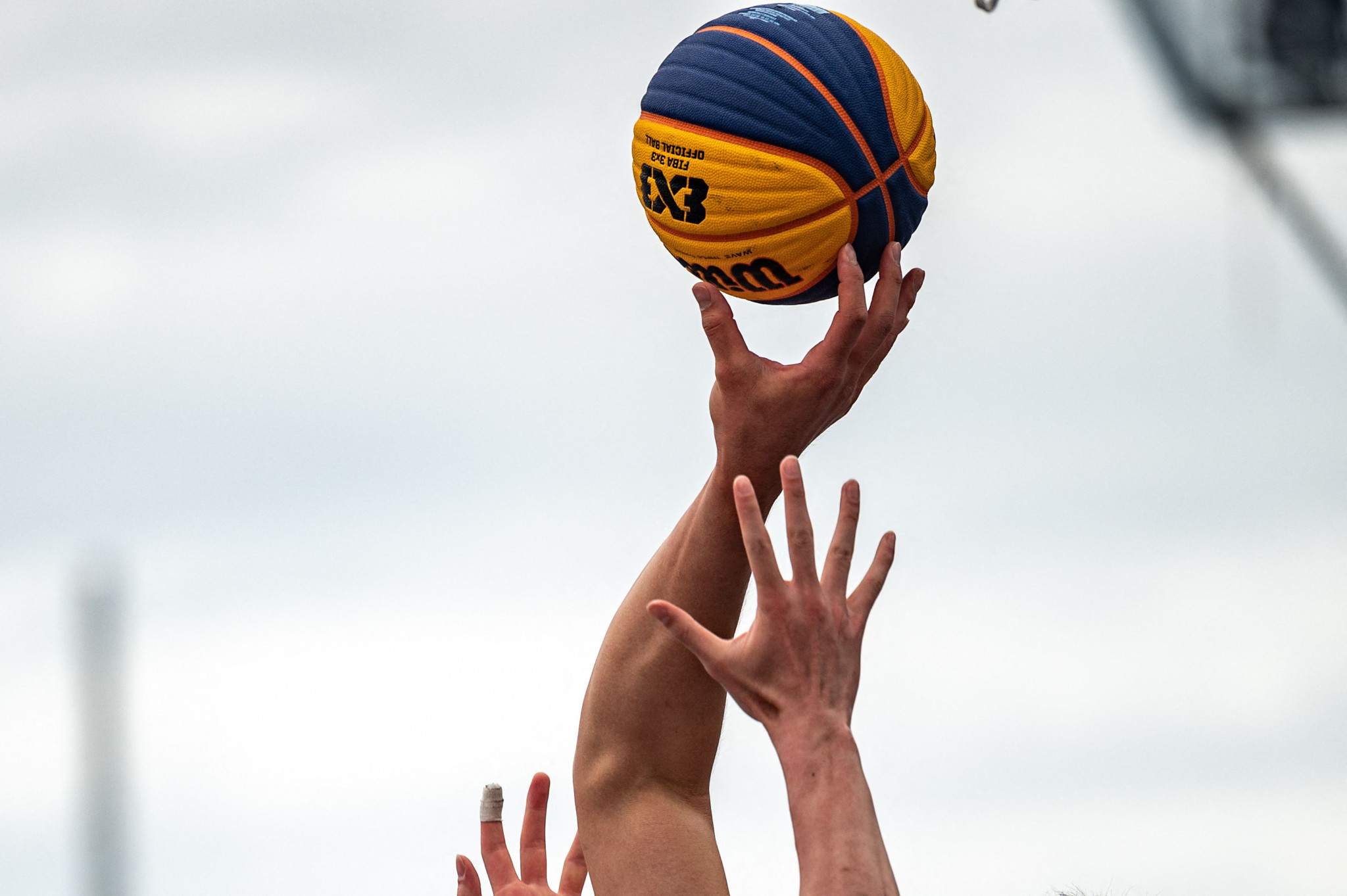 The United States men's and women's teams both won their first two games at the 3x3 Olympic qualification tournament in Graz ©Getty Images