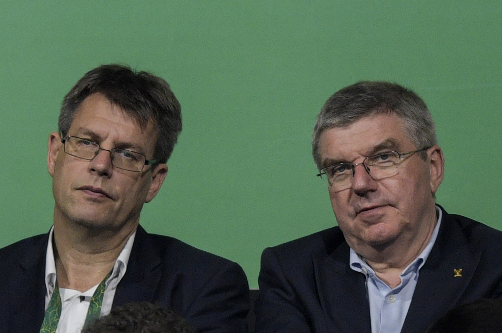 ITTF President Thomas Weikert, left, will seek re-election at the AGM ©Getty Images
