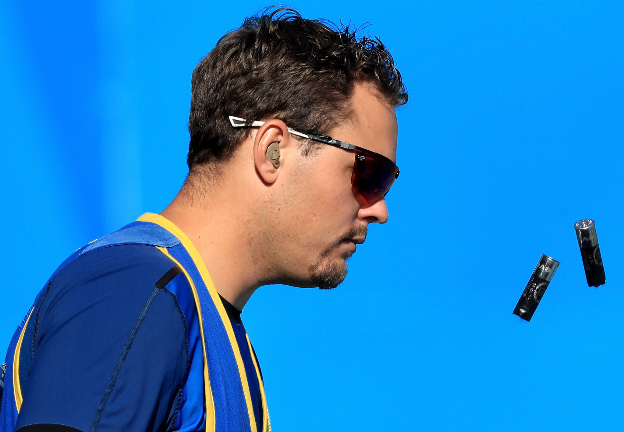 Stefan Nilsson and Victoria Larsson won the mixed team skeet final ©Getty Images