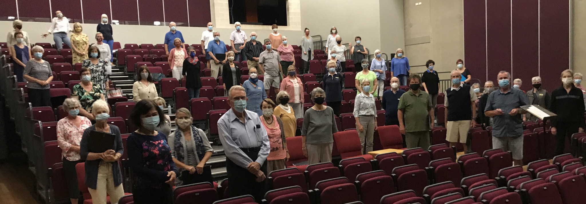 The Noosa Chorale choir in rehearsal for the concert ©Ian Jobling/Noosa Chorale