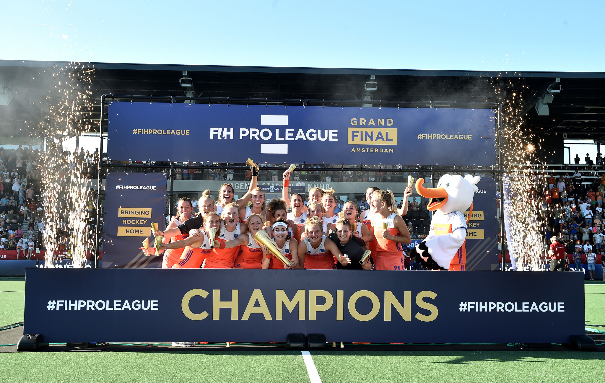 The Netherlands have secured back-to-back women's Hockey Pro League titles ©Getty Images