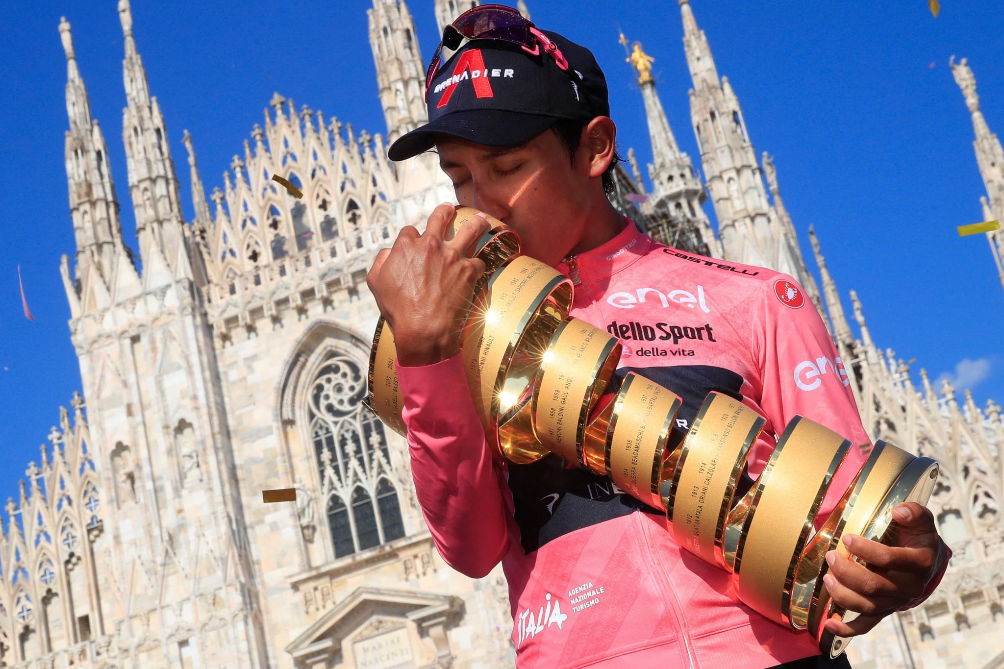 Bernal crowned Giro d'Italia champion as Ganna wins final stage in Milan