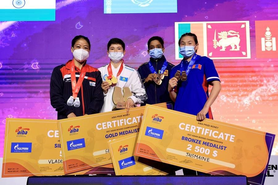 Kazakhstan claim eight golds in women's finals at Asian Elite Boxing Championships