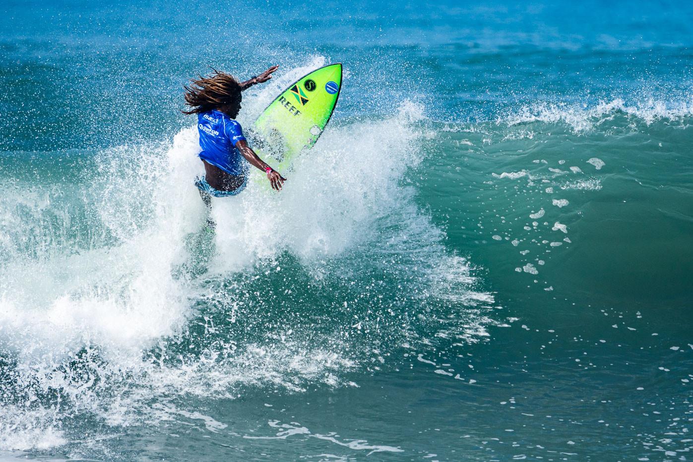 Icah Wilmot of Jamaica in action in the men's event ©ISA/Ben Reed