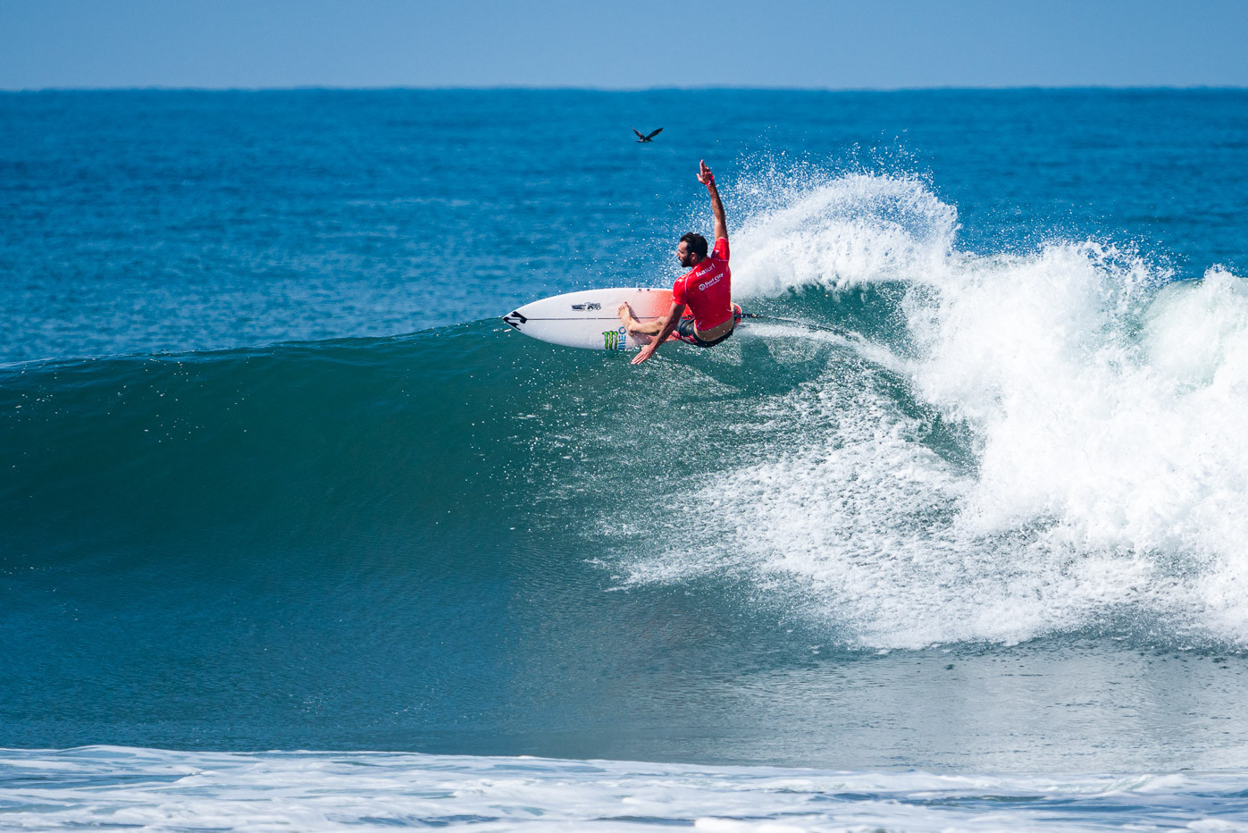 Frederico Morais of Portugal was one of the 24 men's heat winners on the opening day ©ISA/Ben Reed