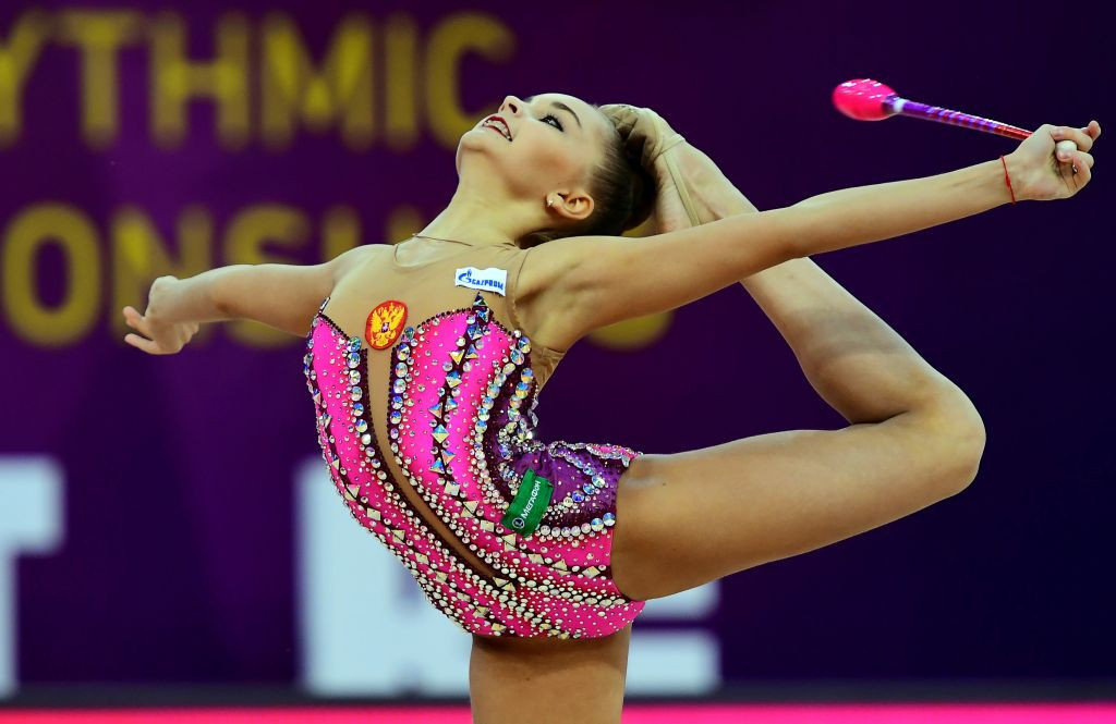 Arina Averina won two titles in Pesaro, including in the clubs event ©Getty Images