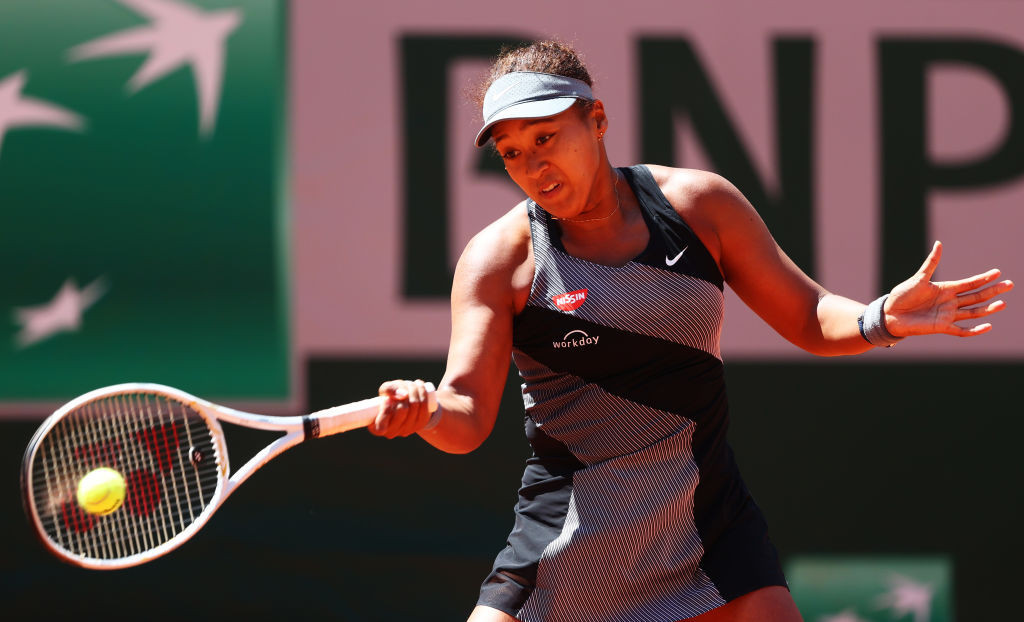 Naomi Osaka negotiated her first round match at the French Open yesterday but not the post-match interview - for which she was fined and threatened with further fines and possible disqualification ©Getty Images