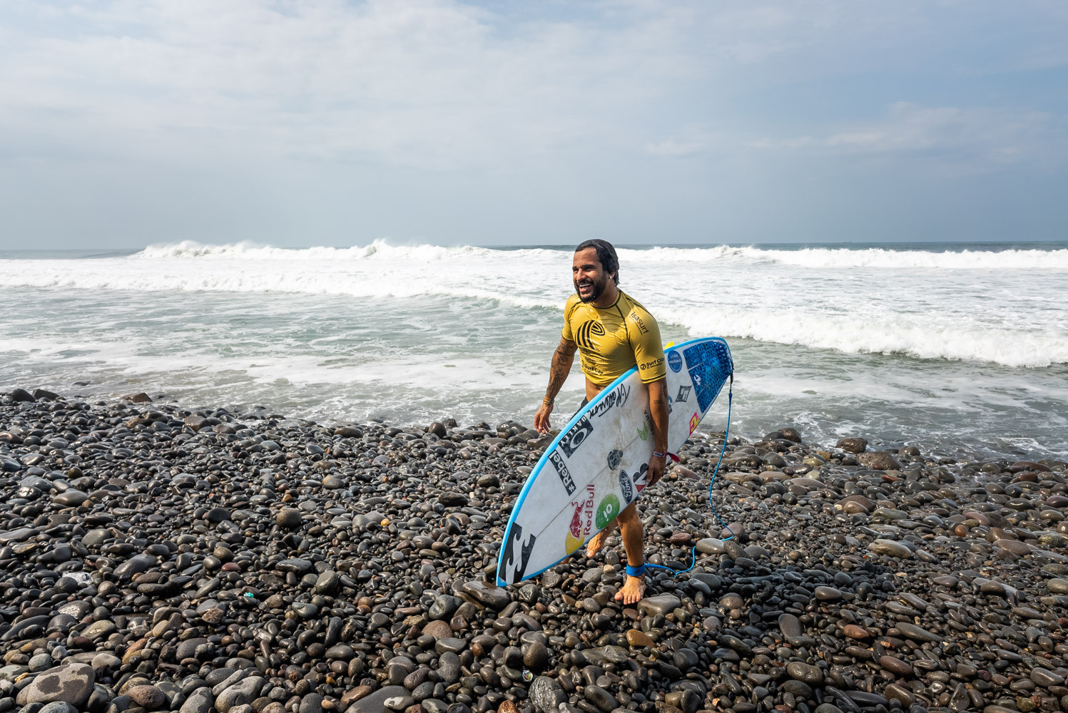 Brazil's Italo Ferreira - the defending champion - had to settle for second spot behind Murakami ©ISA/Sean Evans