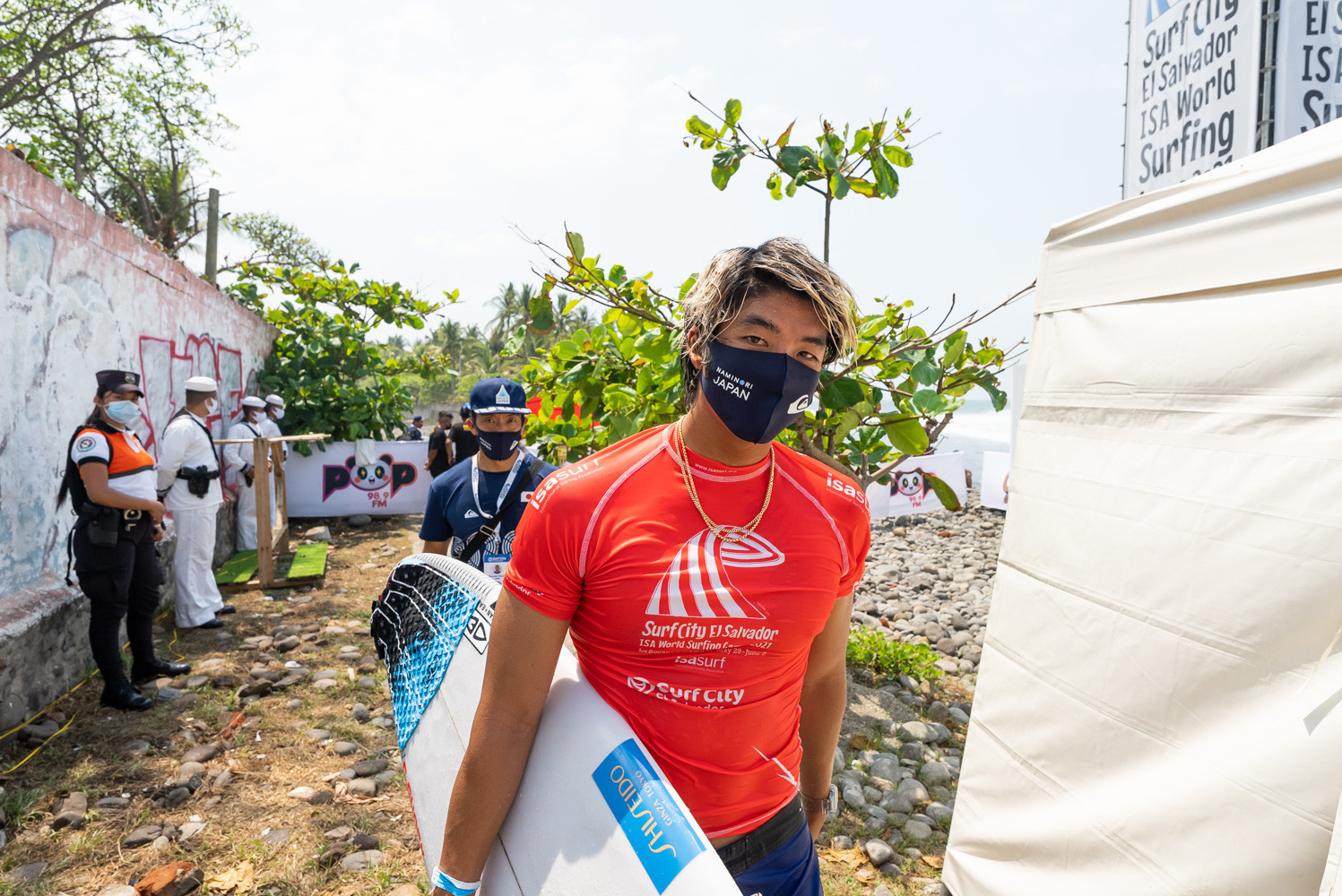 Kanoa Igarashi - who like Ferreira and Murakami has already qualified for the Olympics - was another Japanese winner today in El Salvador  ©ISA/Sean Evans