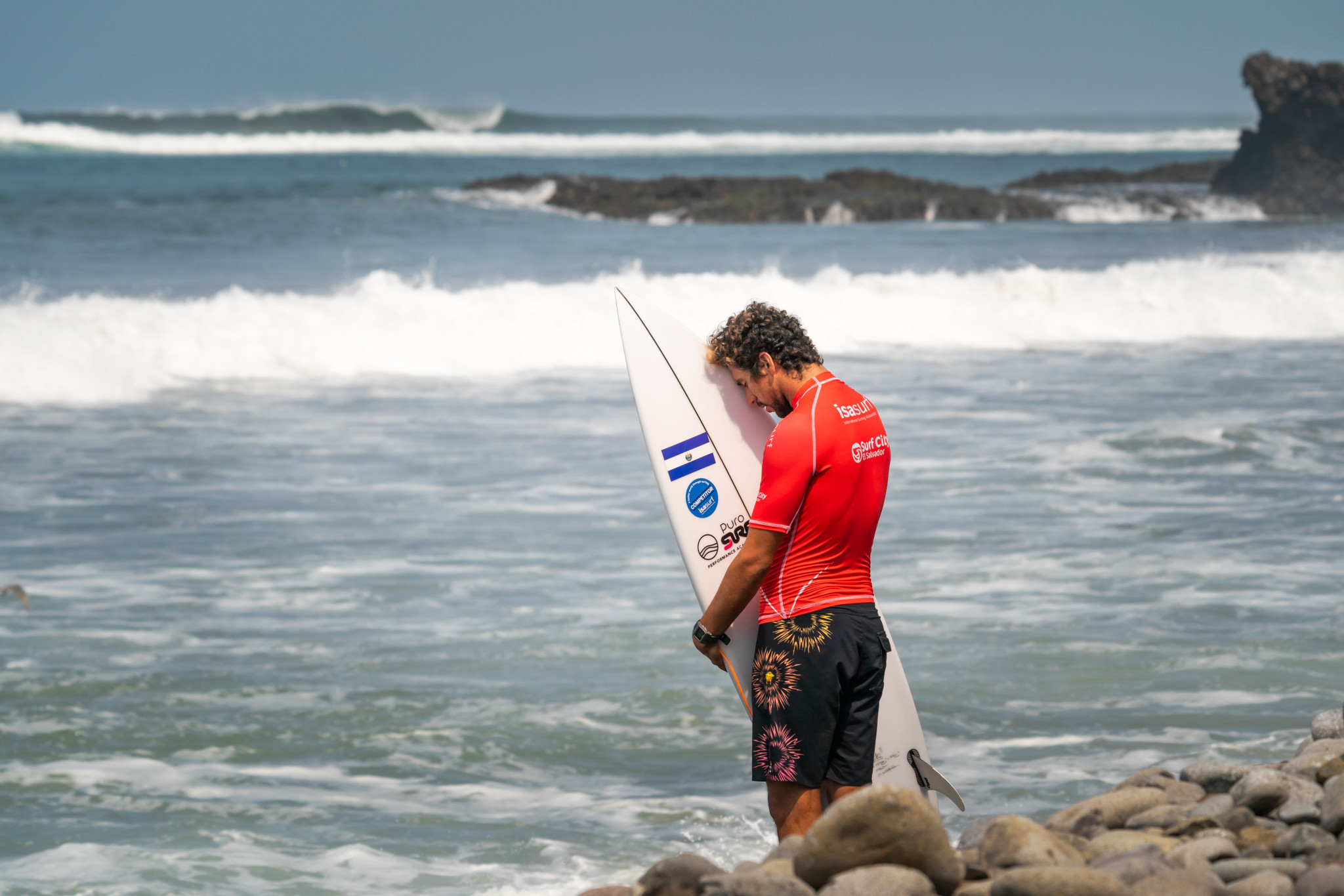 Home surfer Bryan Perez was impressive through the first two days, but placed third in his round-three heat ©ISA/Sean Evans