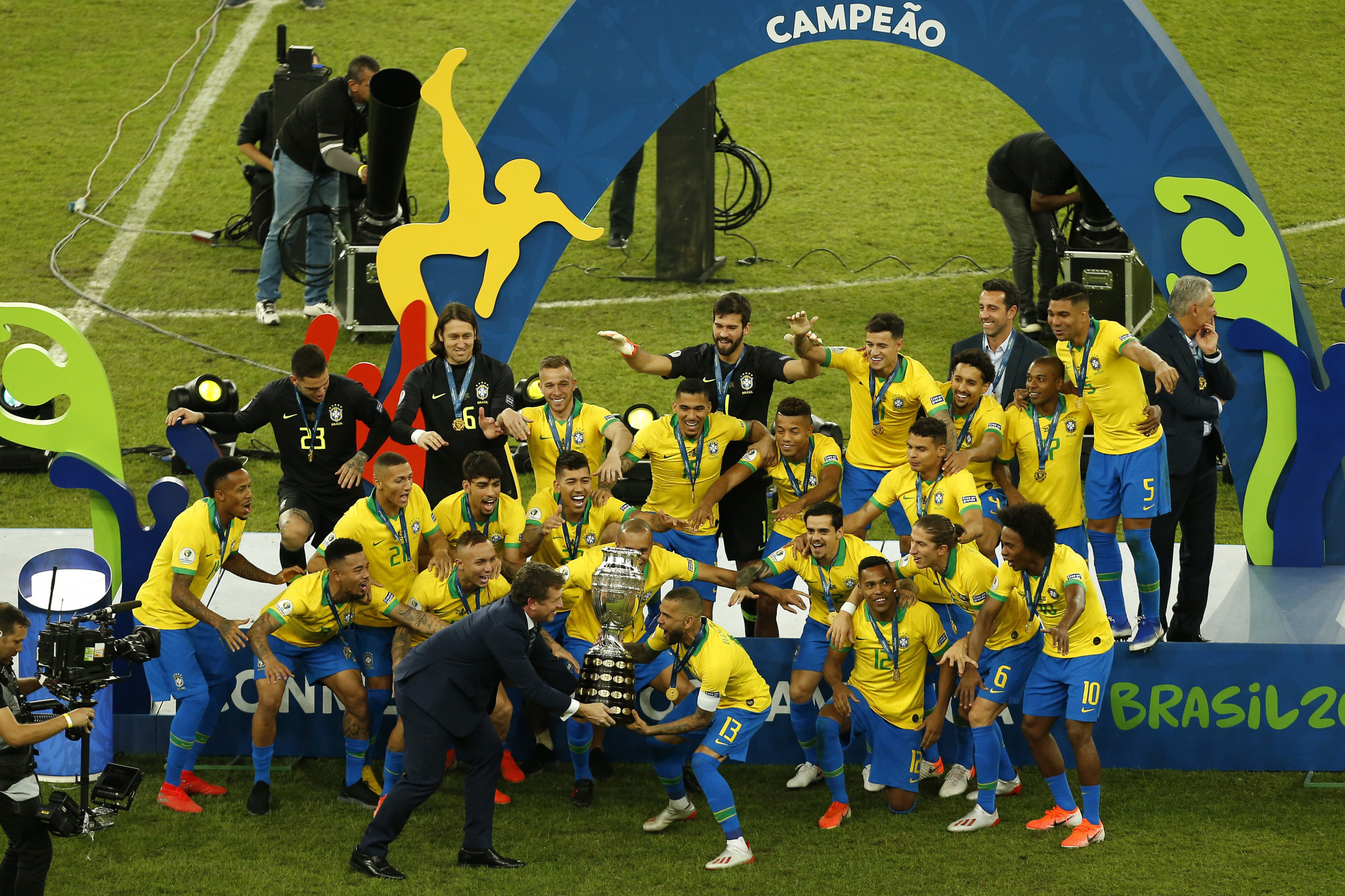 Brazil is set to stage the Copa América for the second successive time after playing host in 2019 when the nation won the title ©Getty Images