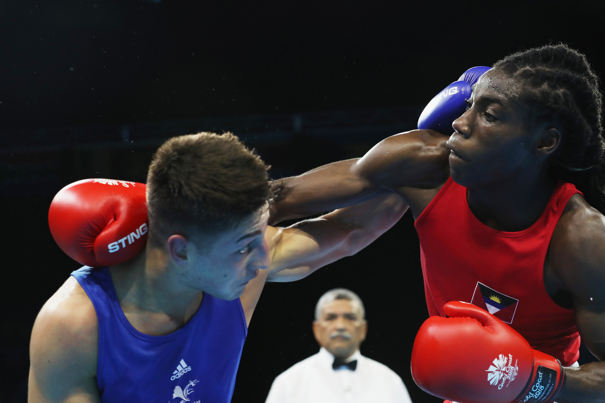 The success of Alston Ryan, right, could improve development of boxing, says ABOA President Paul Chet Greene ©Getty Images