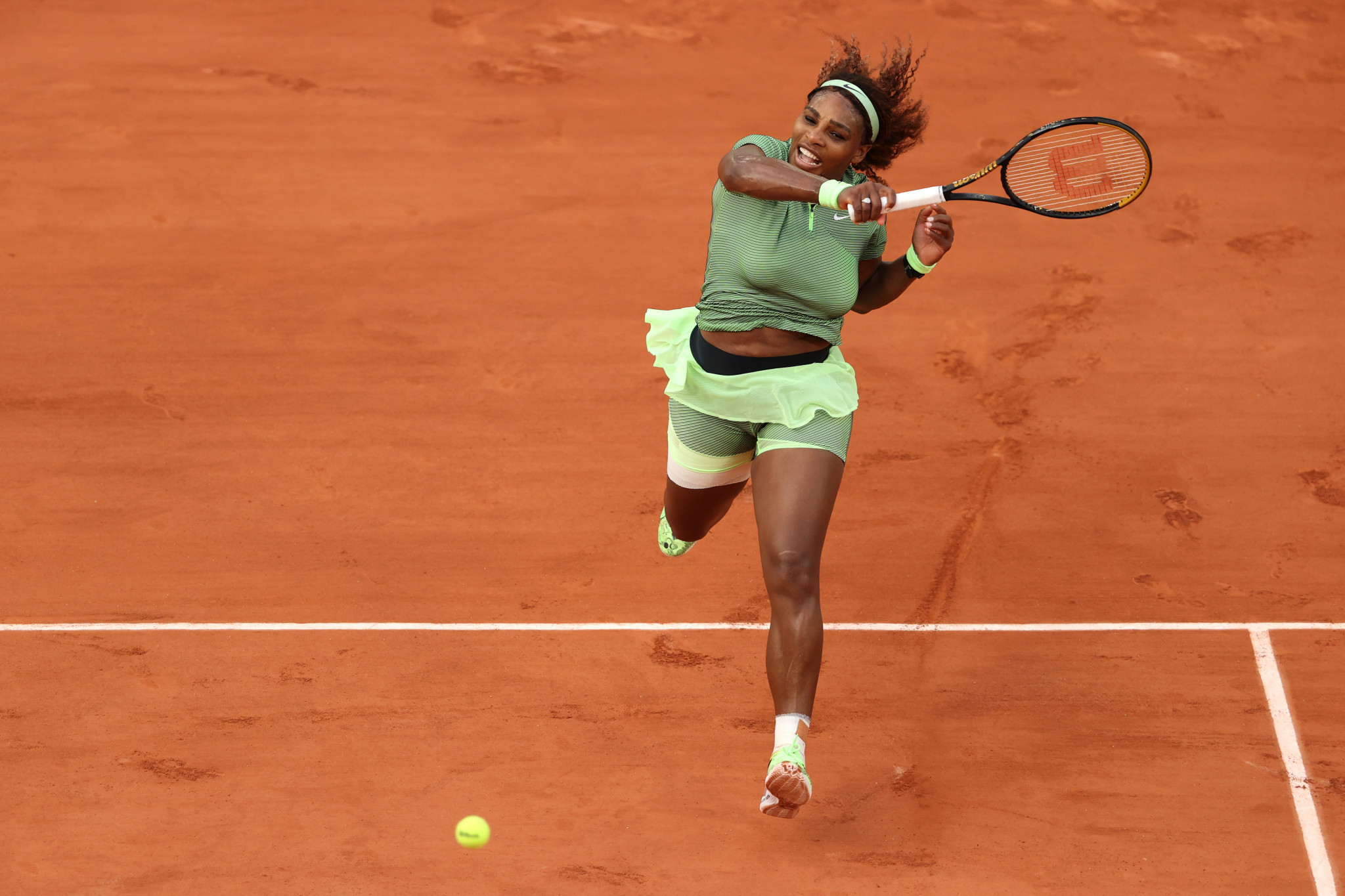 Serena Williams was taken to three sets before she defeated Romania's Mihaela Buzarnescu ©Getty Images