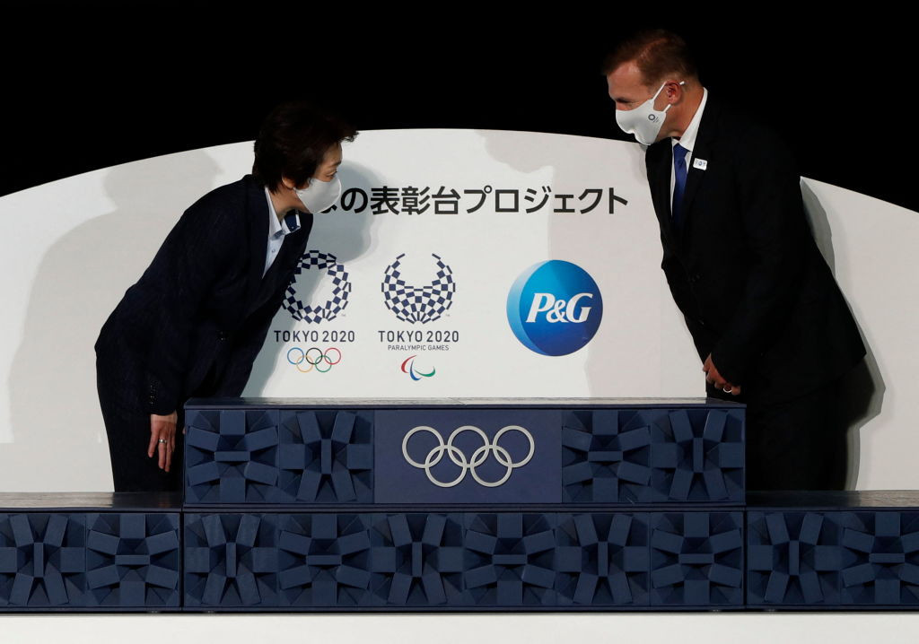 The Tokyo 2020 medal ceremony podium was unveiled today ©Getty Images
