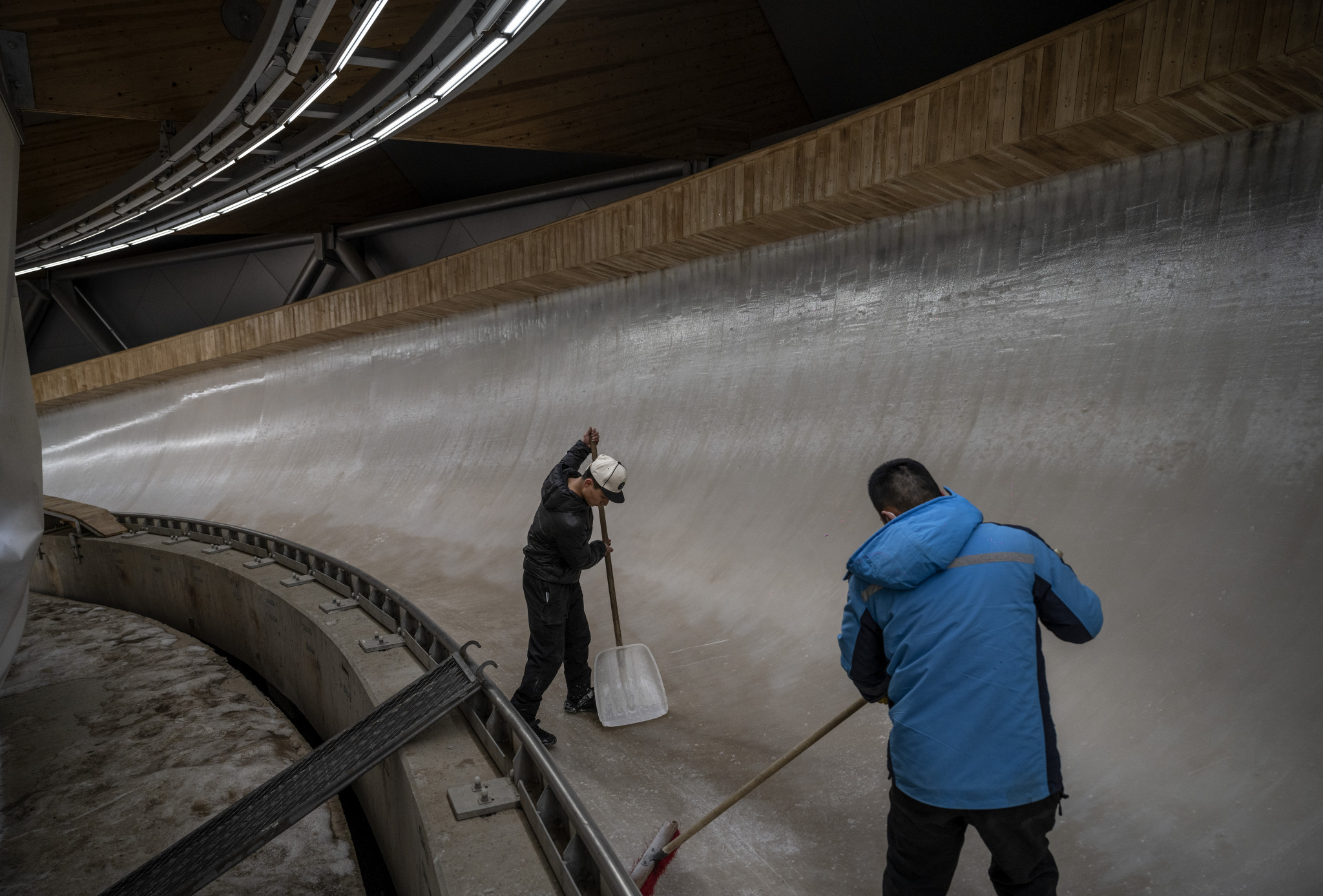 The luge and bobsleigh competitions at Beijing 2022 are set to be held at the National Sliding Center ©Getty Images