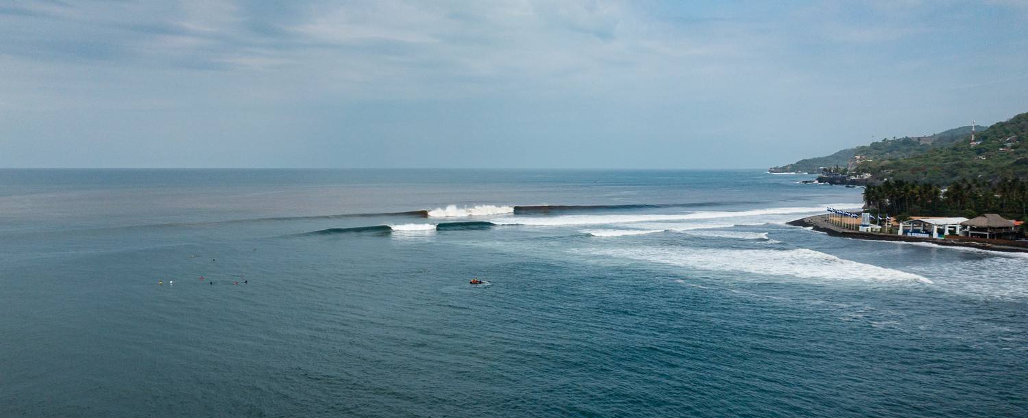 Action is taking place at La Bocana and El Sunzal, with the area in El Salvador dubbed Surf City ©ISA/Ben Reed