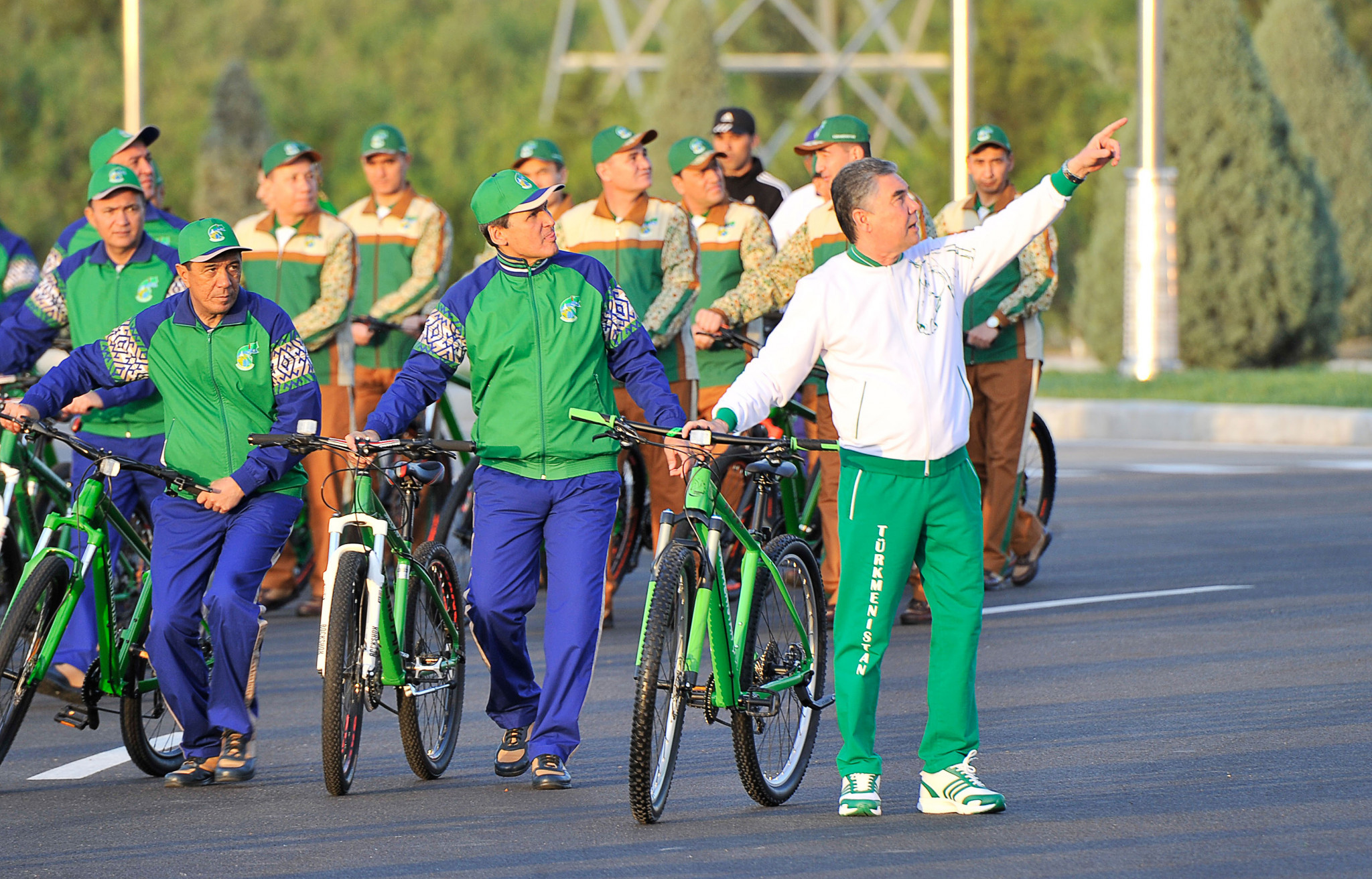 Turkmenistan, led by President Gurbanguly Berdimuhamedov, was awarded the 2021 Track Cycling World Championships in 2018 ©Getty Images