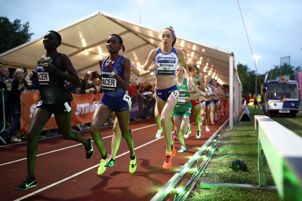 Britain's Eilish McColgan has the fastest time of the women entered for the European 10,000m Cup, which doubles as the British Olympic trials ©Getty Images