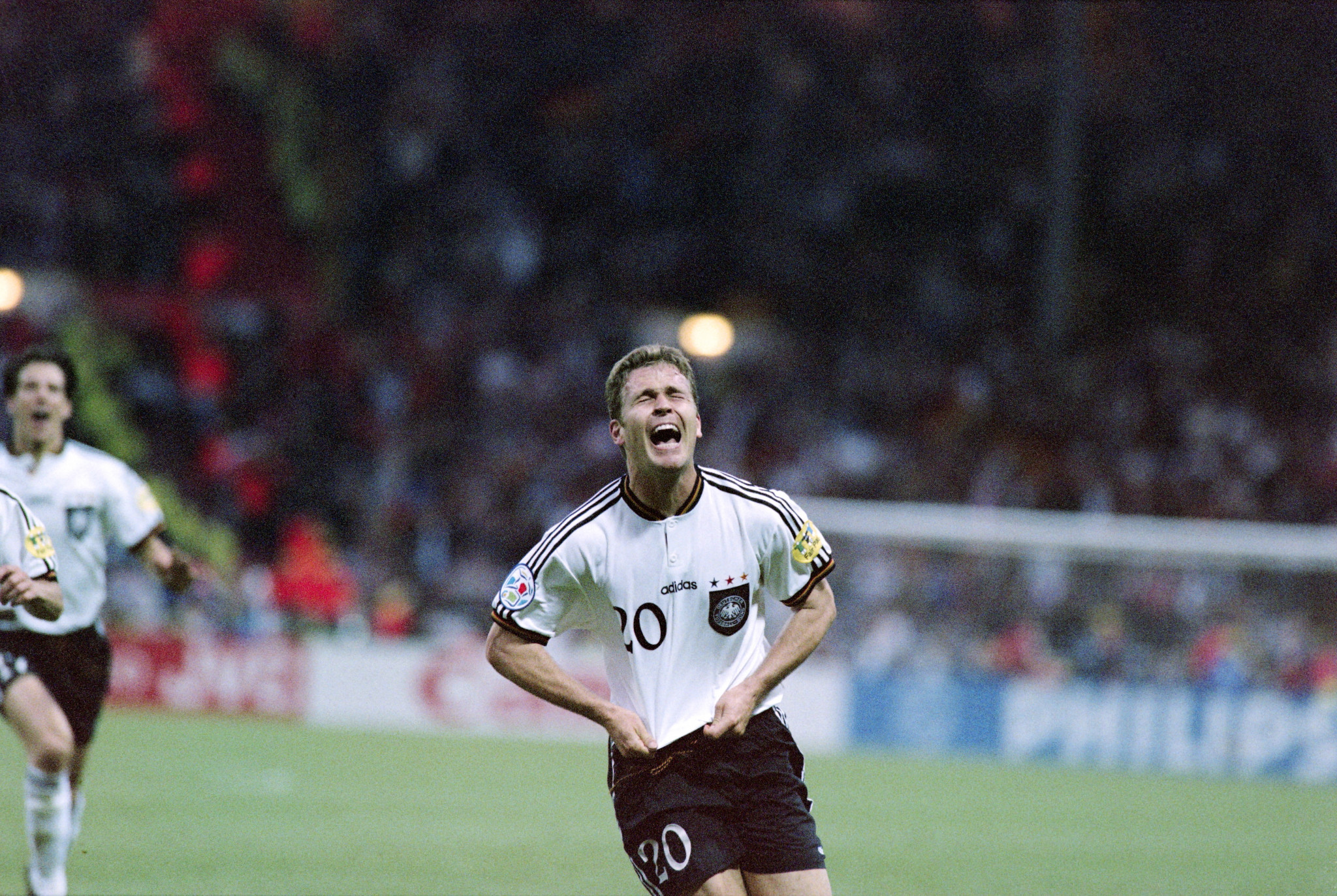Oliver Bierhoff's golden goal won Germany the European crown ©Getty Images
